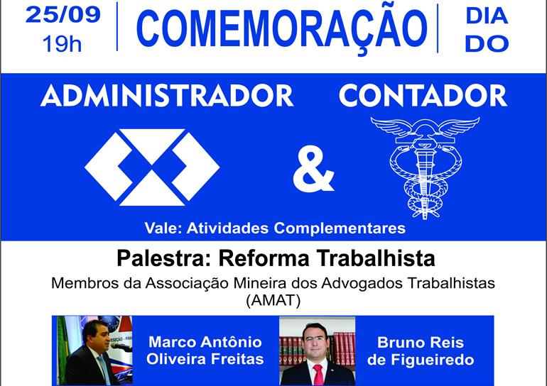 """Faculdade comemora o Dia do Administrador e do Contador com palestra: """"Reforma Trabalhista"""""""