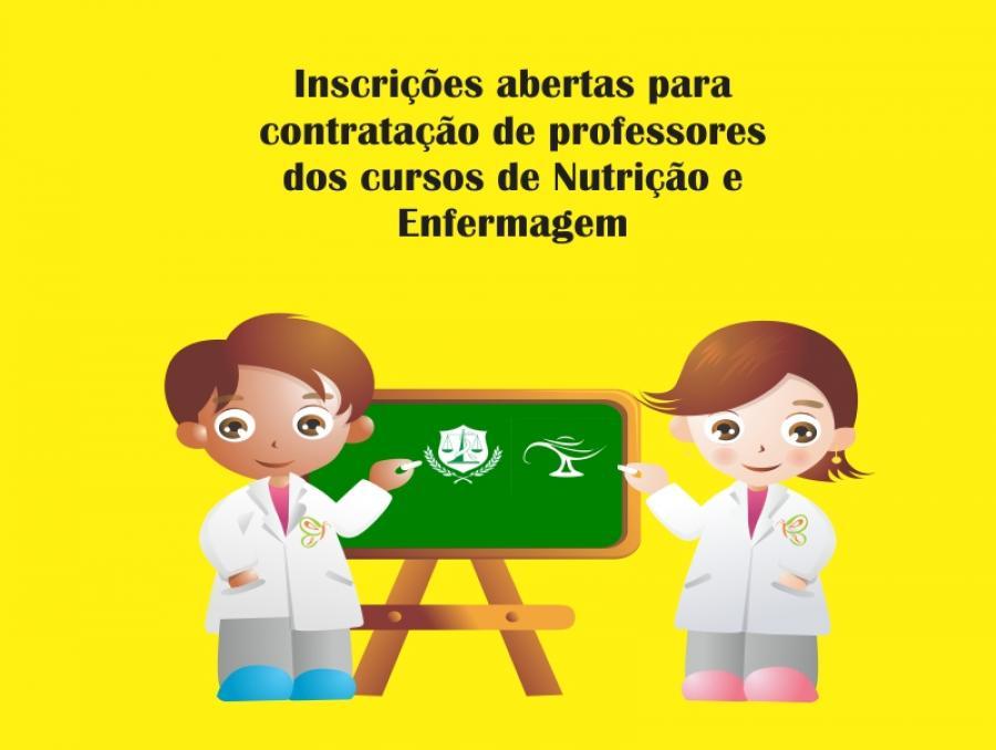 Aberto Edital para contratação de professores dos cursos de Nutrição e Enfermagem