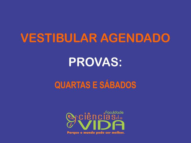 Inscrições abertas para o Vestibular Agendado 2018-1