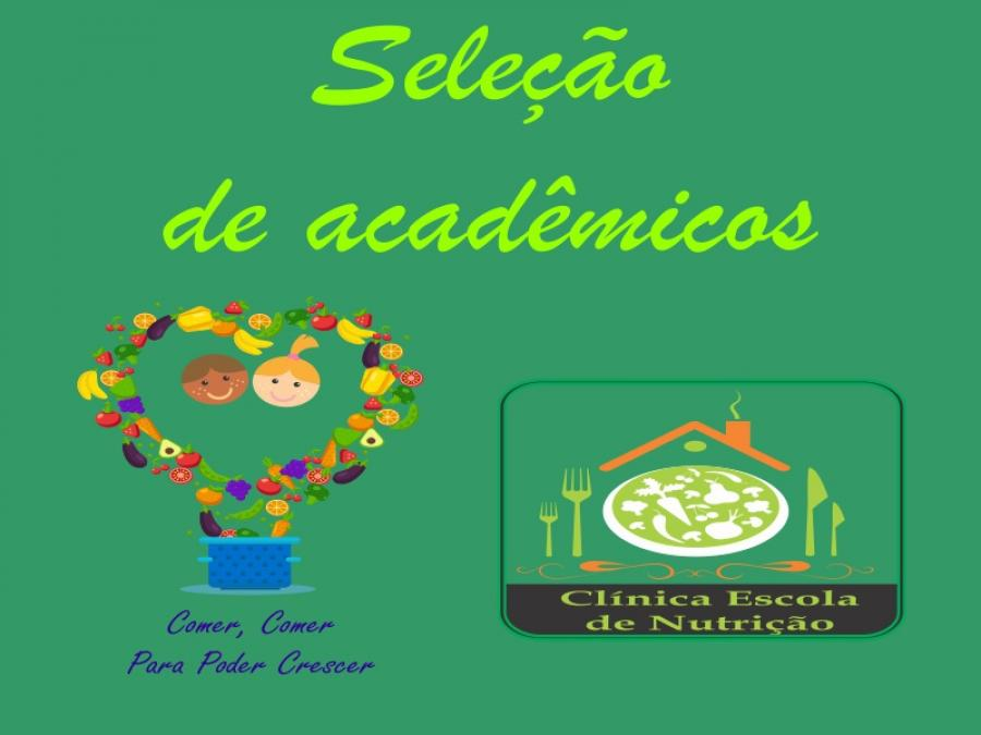 Editais abertos para seleção de acadêmicos do curso de Nutrição