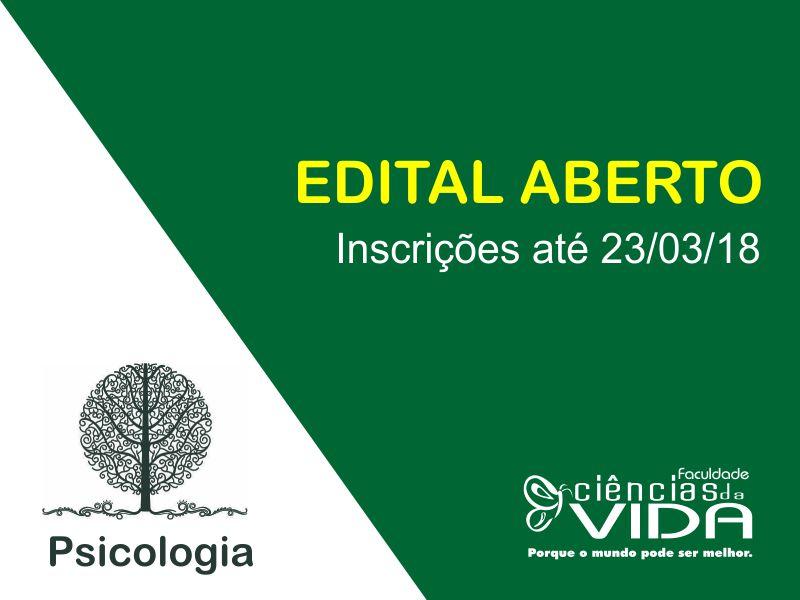 Edital - Monitoria para o Laboratório de Avaliação Psicológica