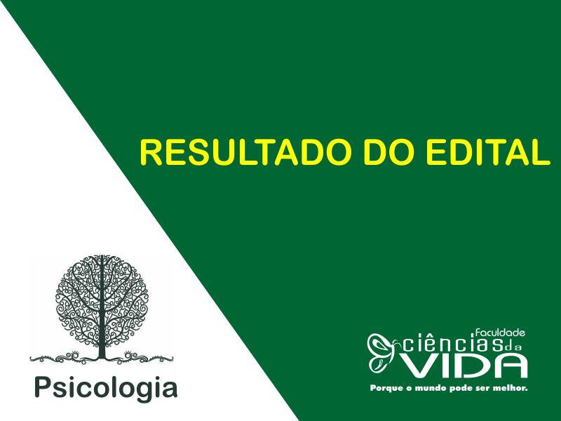 Resultado do Edital - Monitoria para o Laboratório de Avaliação Psicológica