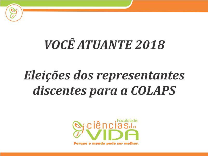 Eleições dos representantes discentes para a COLAPS