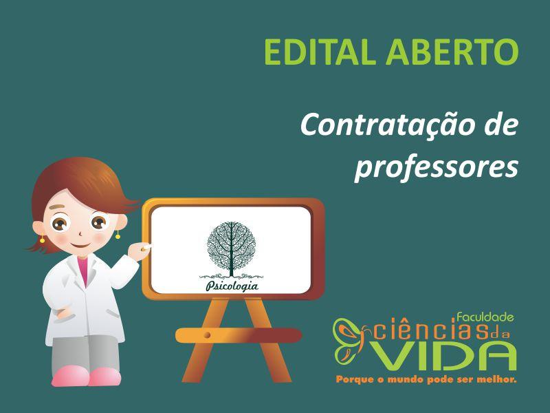 Aberto edital para contratação de professores do curso de Psicologia