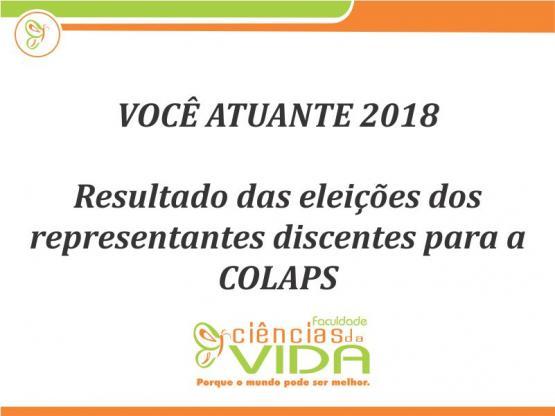 Resultado das eleições dos representantes discentes para a COLAPS