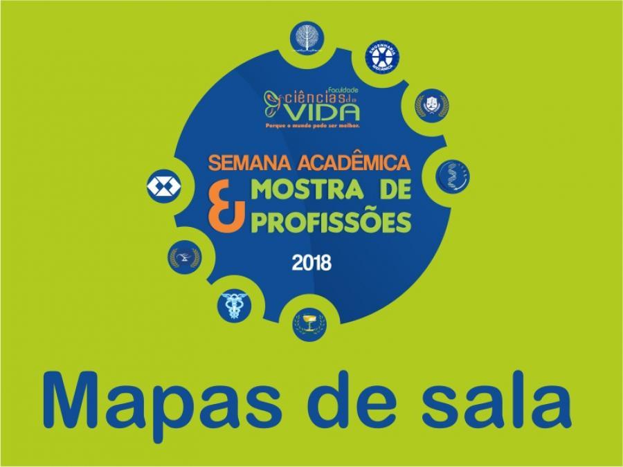 Mapas de sala - Semana Acadêmica e Mostra de Profissões