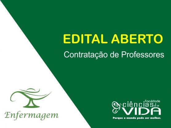Aberto Edital para contratação de professores para o curso de Enfermagem