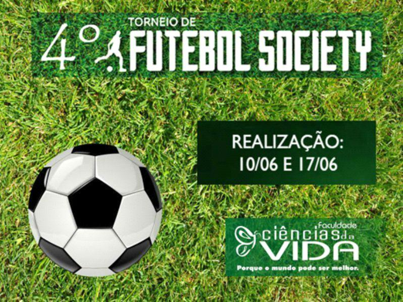 Confira a programação do 4º Torneio de Futebol Society da FCV
