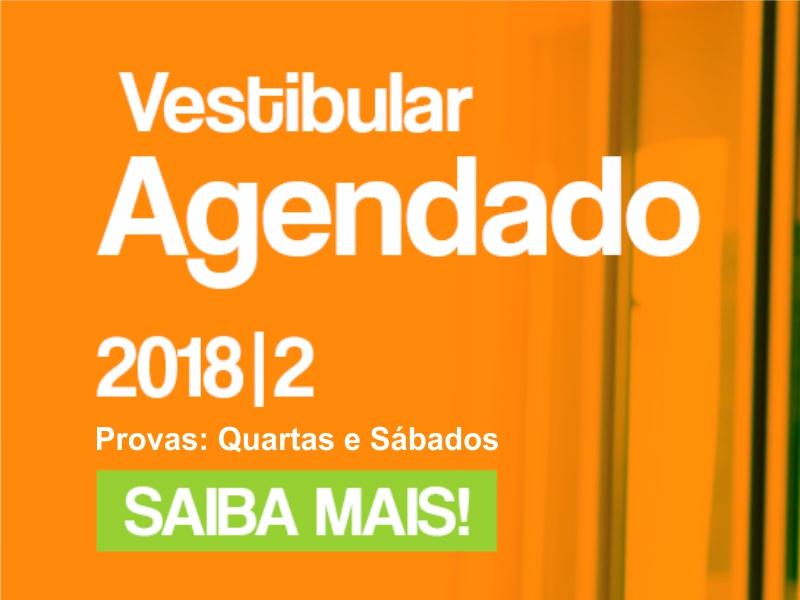 Inscrições abertas para o Vestibular Agendado 2018-2