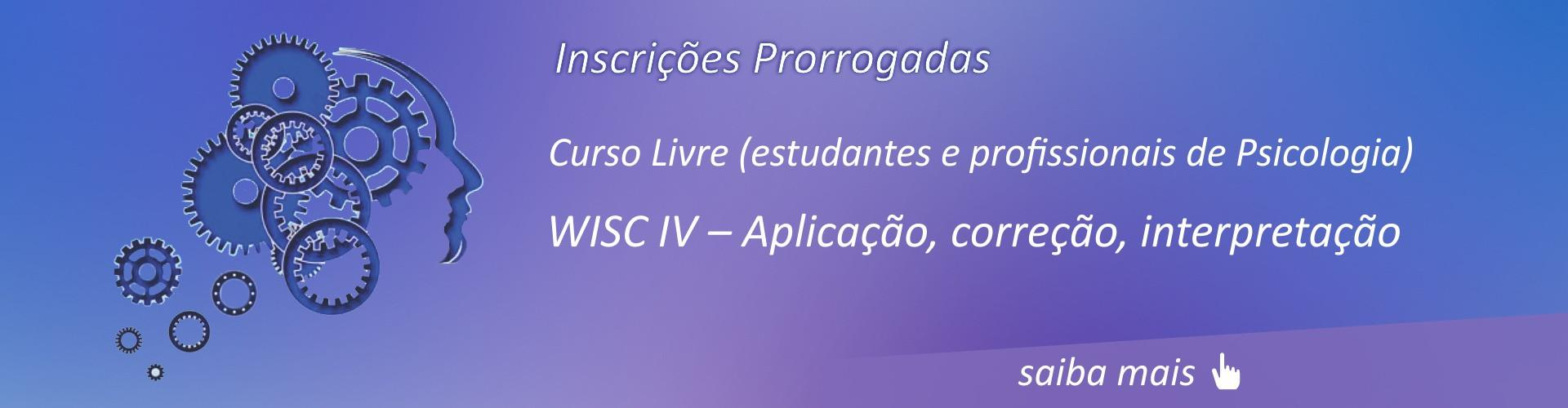 WISC IV – Aplicação, correção, interpretação