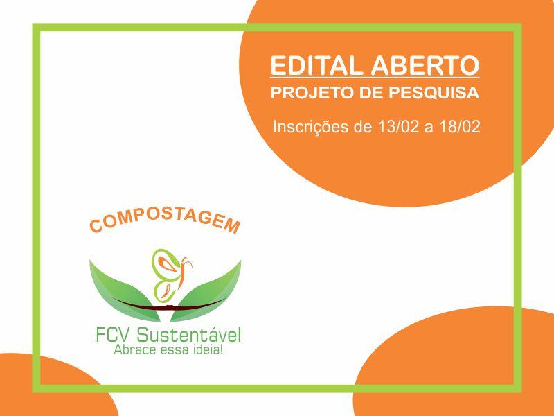 Aberto edital para seleção de discentes para o projeto de compostagem