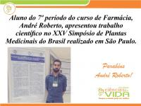 Aluno representa a FCV no XXV Simpósio de Plantas Medicinais do Brasil