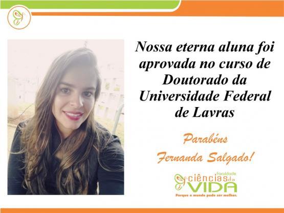 Nossa eterna aluna é aprovada no Doutorado da UFLA