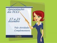 Confira o cronograma das apresentações dos TCCs 2018-2
