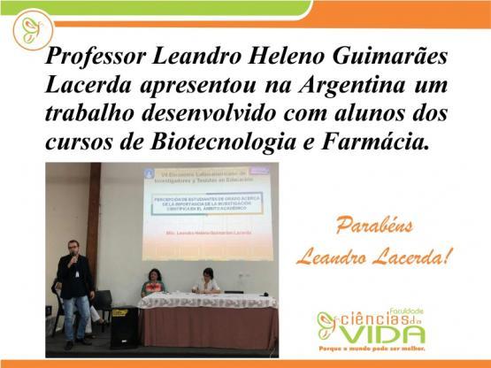 Professor apresentou no exterior trabalho desenvolvido com alunos