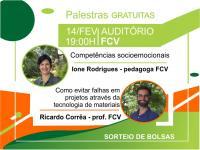 Inscrições abertas para palestras gratuitas na FCV