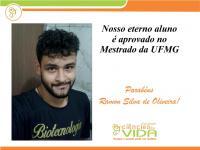 Nosso eterno aluno é aprovado no Mestrado da UFMG