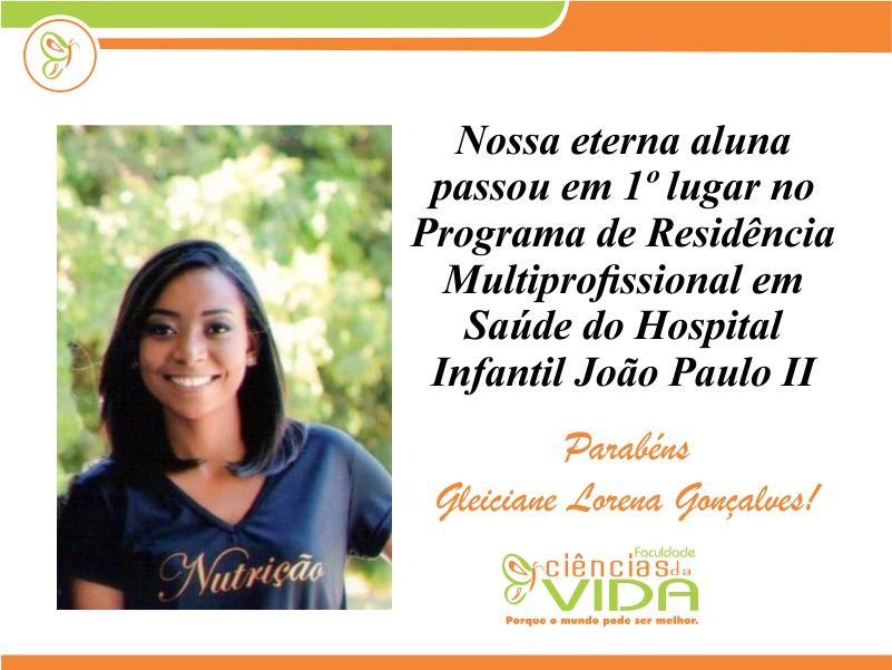 Nossa eterna aluna passou no Programa de Residência Multiprofissional em Saúde do Hospital Infantil