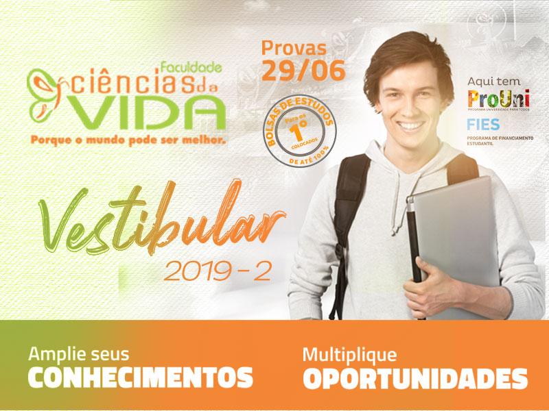 Inscrições abertas para o Vestibular 2019-2º