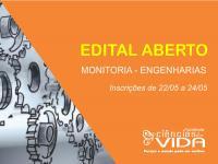 Seleção de acadêmicos para Monitoria Voluntária aos cursos de Engenharias