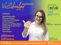 Inscrições abertas para o Vestibular Agendado 2019-2º semestre