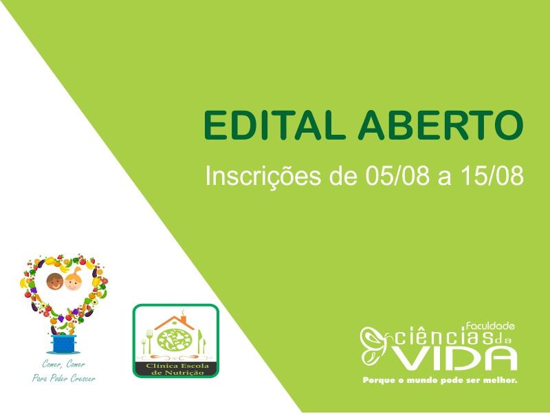 Aberto Edital Seletivo para Projetos de Pesquisa e Extensão 2019-2