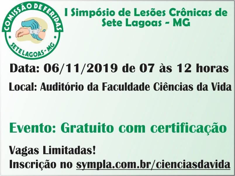 I SIMPÓSIO DE LESÕES CRÔNICAS