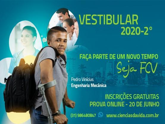 Inscrições gratuitas para o vestibular 2020 - 2º semestre