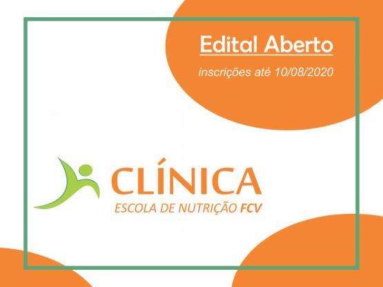 Edital aberto para a Clínica Escola de Nutrição FCV