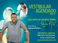 Inscrições gratuitas para o Vestibular Agendado 2020 - 2º semestre