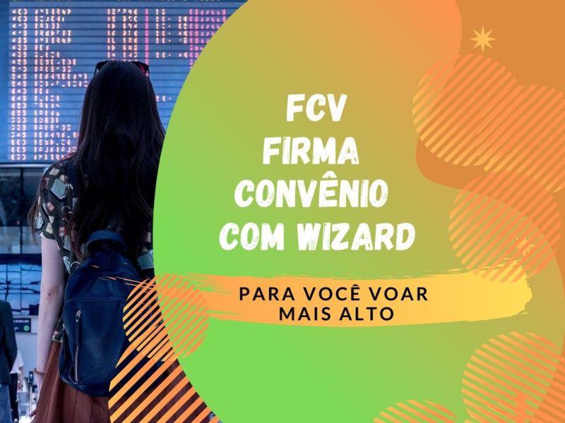 FCV firma convênio com a escola de idiomas Wizard