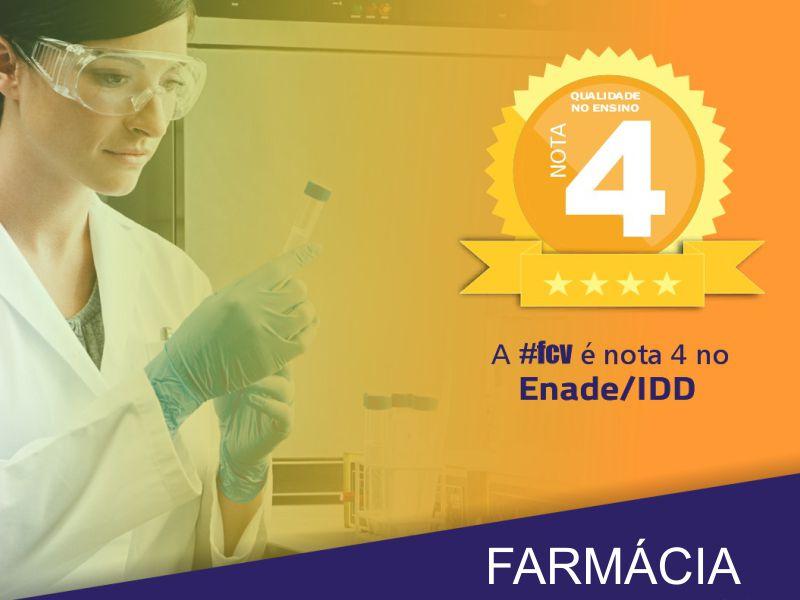 Curso de Farmácia conquista nota 4 no Enade IDD