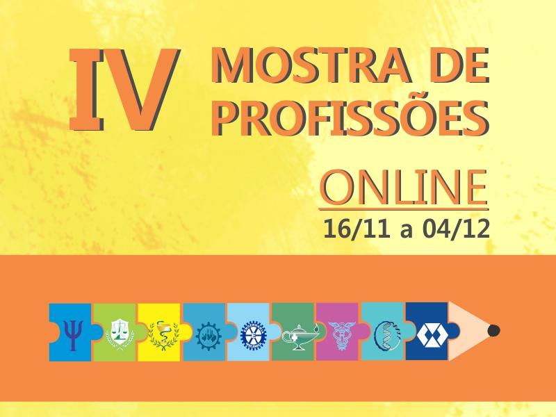 IV MOSTRA DE PROFISSÕES ONLINE