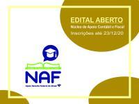 Edital aberto para projeto do Núcleo de Apoio Contábil e Fiscal - NAF