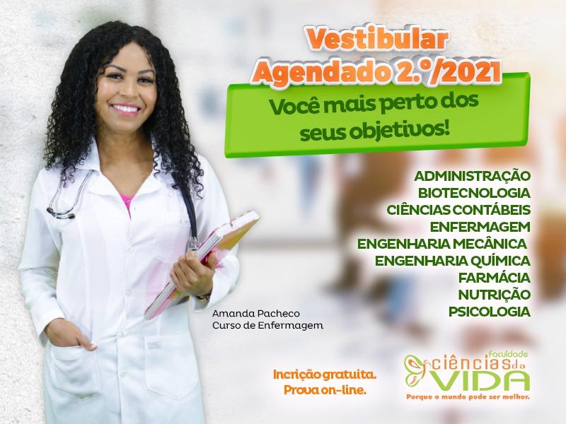 Inscrições gratuitas para o Vestibular Agendado 2021 - 2º semestre
