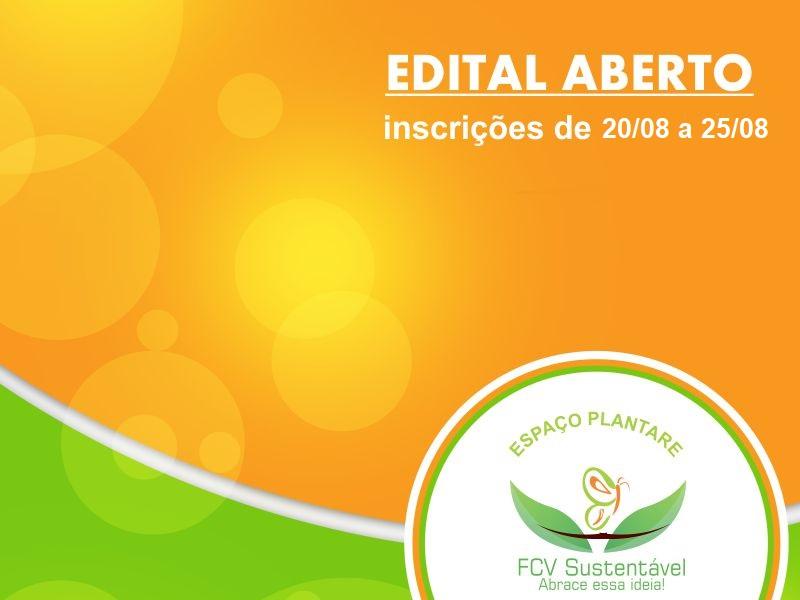 Edital aberto para seleção de discentes para Programa de Pesquisa e Extensão Horta FCV