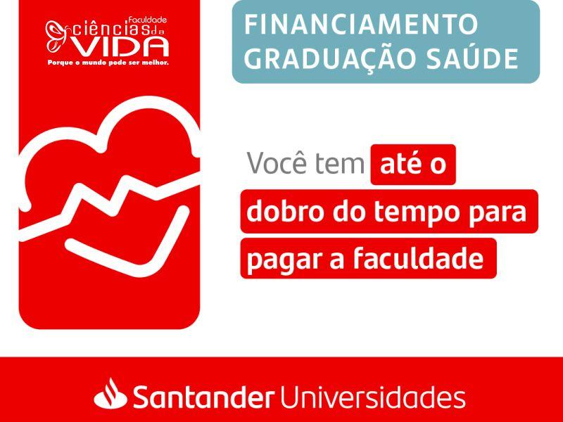 FCV e Santander traz financiamento estudantil na área da saúde