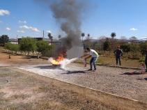 Brigadistas da FCV recebem treinamento do Corpo de Bombeiros