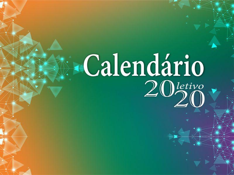 Calendário letivo 2020